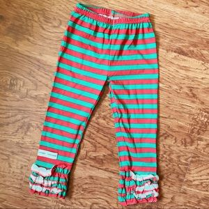 Toddler girl boutique Christmas pants size 4t EUC